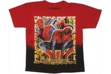 Marvel Comics Amazing Spider-Man Foil Skill Word Frame Juvenile T-Shirt