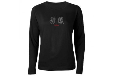 Chinese Name - Lillian Women's Long Sleeve Dark T- Kanji Women's Long Sleeve Dark T-Shirt by CafePress