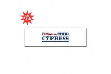 Made in Cypress California Sticker Bumper 50 pk by CafePress