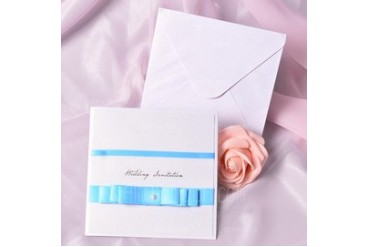 Classic Style Side Fold Invitation Cards With Bows (set of 50) (118040261)