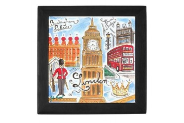 London Art Keepsake Box by CafePress