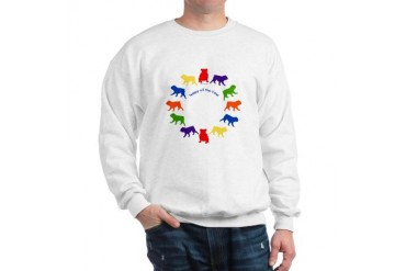 Happy Bulldog Funny Sweatshirt by CafePress