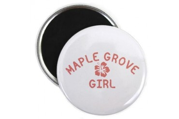 Maple Grove Pink Girl Minnesota Magnet by CafePress