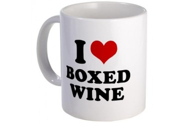 I Love Boxed Wine Wine Mug by CafePress