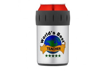 Thermos Can Cooler Teacher Thermosreg; Can Cooler by CafePress