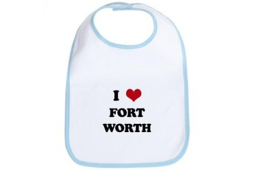 FORT WORTH.png Funny Bib by CafePress