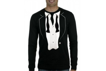 Tuxedo T-Shirts - The After Party LONG SLEEVE Tuxedo T-Shirt