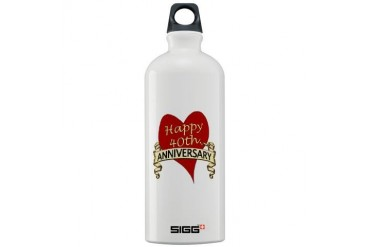 Anniversary Sigg Water Bottle 1.0L by CafePress