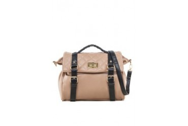 Faux Nappa Leather Satchel Bag