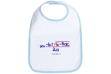 Quadratic Equation Humor Bib by CafePress