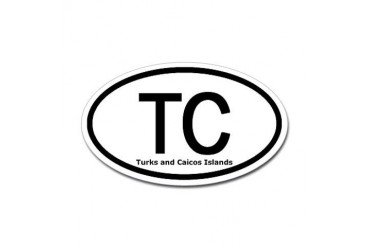 Turks and Caicos Islands TC Oval Sticker Travel Sticker Oval by CafePress