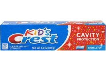 Crest Kids Fluoride Anticavity Toothpaste Sparkle Fun Flavor 4.1 oz Tube