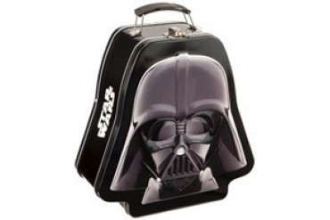 Star Wars Darth Vader Helmet Embossed Tin Tote Lunch Box