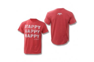 Duck Commander Happy Happy Happy T-Shirt - Heather Red - S