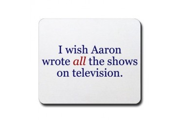 I Wish Aaron Wrote All Politics Mousepad by CafePress