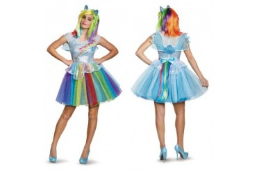Womens Deluxe Rainbow Dash Halloween Costume  sc 1 st  Anyprices.com & Toddler Pink Rainbow Pony Halloween Costume - Price Comparison
