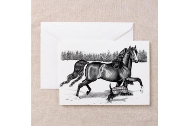 Morgan/Scottie Christmas/ Horse Greeting Cards Pk of 10 by CafePress