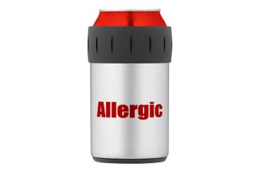 Allergic Thermos Can Cooler Allergies Thermosreg; Can Cooler by CafePress