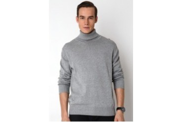 Noir Sur Blanc Mens Rollneck Sweater
