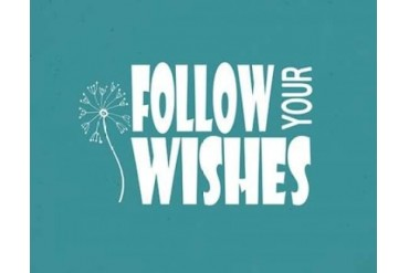 Follow Your Wishes Poster Print by Shanni Welsh (22 x 28)