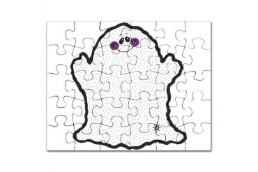 chubby ghost copy.png Funny Puzzle by CafePress