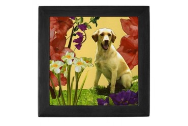 Yellow Lab Dog Keepsake Box by CafePress