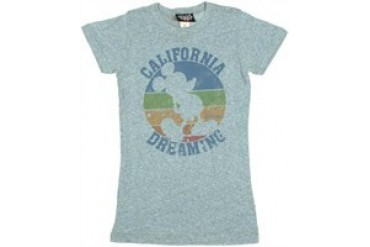 Disney Mickey Mouse California Dreaming Baby Doll Tee by JUNK FOOD