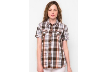 L'GS Ladies Short Sleeves Checked Shirts