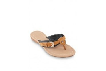 Noveni Sandals with Buckle in Black