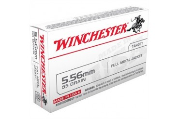 Winchester ''''white Box'''' Rifle Ammunition - Winchester Target Ammo 5.56mm 55gr Fmj 20/Box