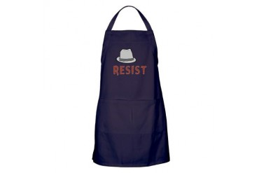 Observer Fedora - Resist Tv show Apron dark by CafePress