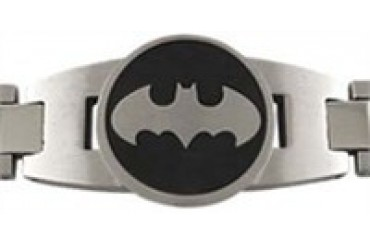 DC Comics Batman Logo Stainless Steel Bracelet