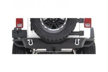 Smittybilt SRC Rear Bumper with Receiver Hitch In Black Powder Coat 76612 Rear Bumpers