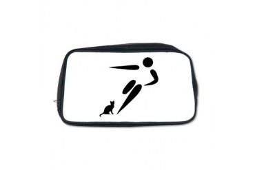 Kick Cat Funny Toiletry Bag by CafePress