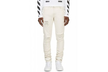 Off white Off white Distressed Natural Denim Jeans