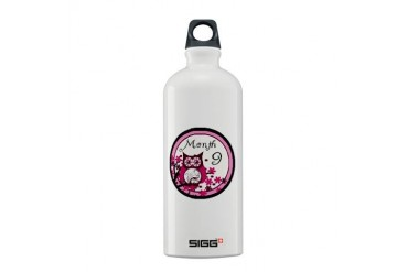 Tree Owl Milestone Month 9 Family Sigg Water Bottle 0.6L by CafePress