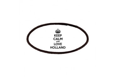 Keep calm and love Holland Funny Patches by CafePress