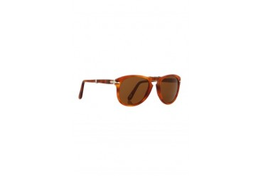 PO0714 54 Crystal Suprema Foldable Sunglasses in 96/33 Light Havana - designed by Persol