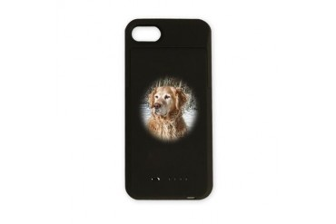 Golden Retriever in Snow Pets iPhone Charger Case by CafePress