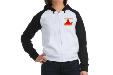 MY BOYFRIEND IS A FIREMAN SHI Women's Raglan Hoodi Firefighter Women's Raglan Hoodie by CafePress