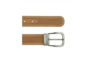 Men's Tan Perforated Leather Belt