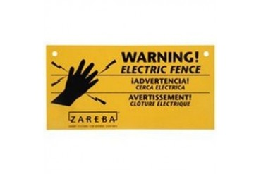 10 Pack Zareba Ws100 Elect Fence Warning Sign