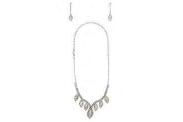 Black Queen Marquise Necklace Set