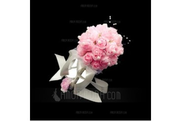 Graceful Free-Form Satin Bridal Bouquets (123040052)