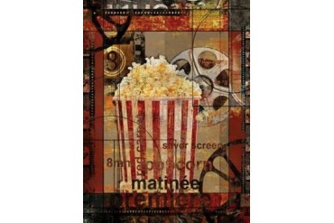 MOVIE POPCORN Poster Print by Eric Yang (11 x 14)