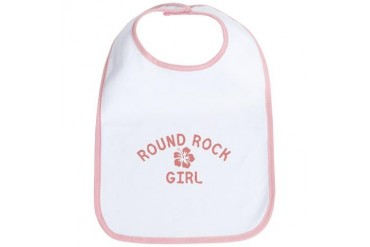 Round Rock Pink Girl Texas Bib by CafePress