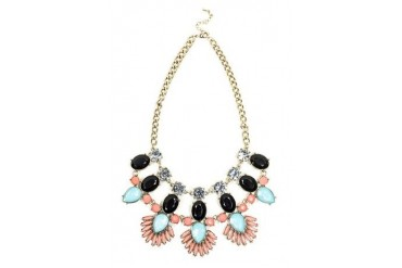 Mixed statement necklace
