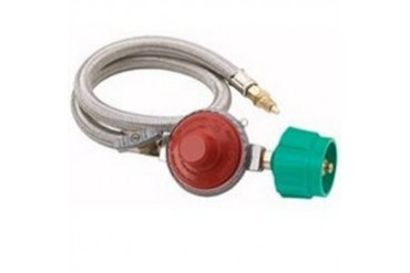 Bayou Classic Stainless Braided Hose Regulator Assembly, 5-Psi