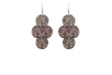 Ottilie Rounded Floral Dangle Earrings