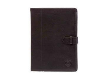 Leather folio case for iPad - Smooth black